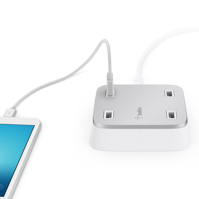 Belkin - Family Rockstar 4-Port USB Oplaadstation White 02