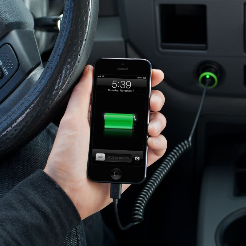 Belkin 2,1A Lightning Car Charger Black - 4