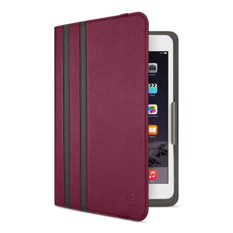 Belkin Twin Stripe Folio iPad mini 4 Maroon Red - 4