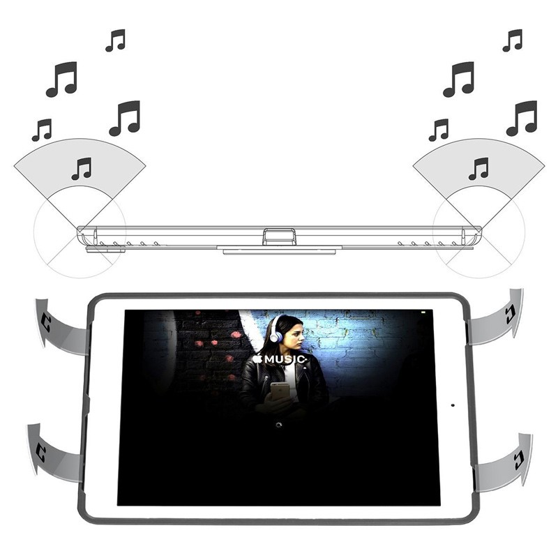 Targus - 3D Protection Hoes iPad (2017, iPad Air 2, iPad Air en iPad Pro 9,7 Grey 12