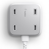 Belkin - Family Rockstar 4-Port USB Oplaadstation White 01