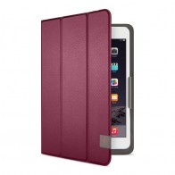 Belkin Twin Stripe Folio iPad mini 4 Maroon Red - 4