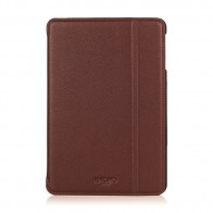 Knomo Leather Folio iPad Mini 1/2/3 Brown - 1