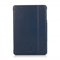 Knomo Leather Folio iPad Mini 1/2/3 Blue - 1