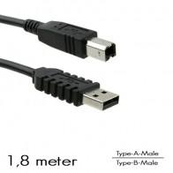 OEM - USB Type-A/B aansluitkabel M/M (1,8 Meter)