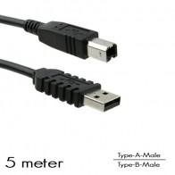 OEM - USB Type-A/B aansluitkabel M/M (5 Meter)